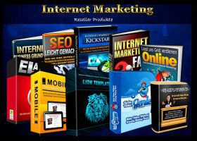 Internet Marketing Shop mit Produkten